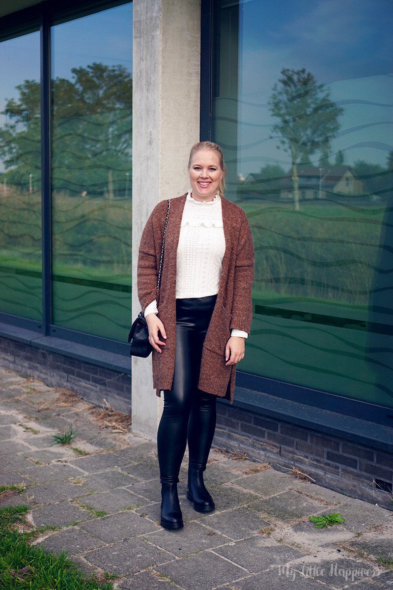 Outfit | Faux leather pants