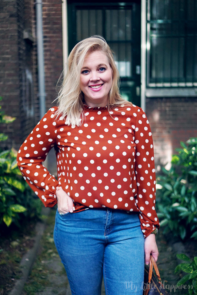 Outfit of today | Primark herfst stippenblouse
