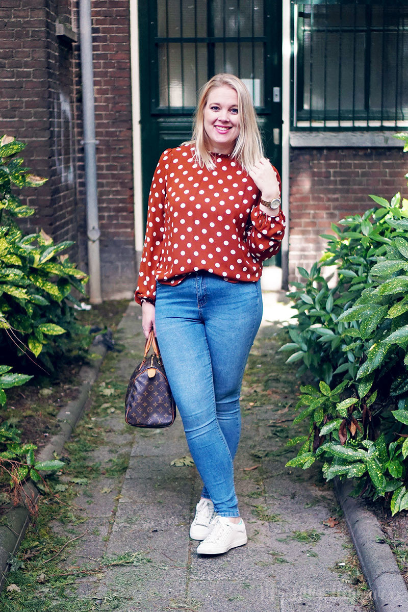 Outfit of today   Primark herfst stippenblouse