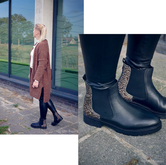OOTD | Faux Leather pants and chelsea boots with panter details