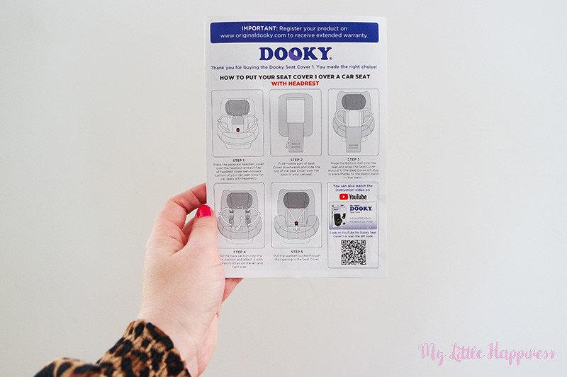Dooky Seat Cover groep 1 gebruiksaanwijzing