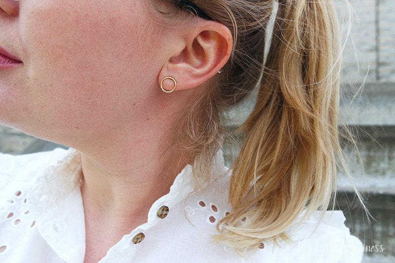 Isabel Bernard oorbellen met rondje