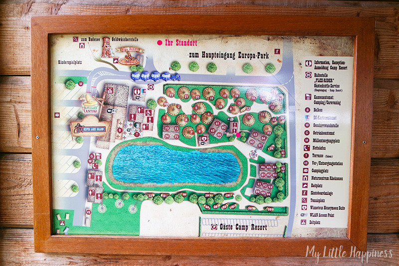 Camp Resort Europa-Park Plattegrond