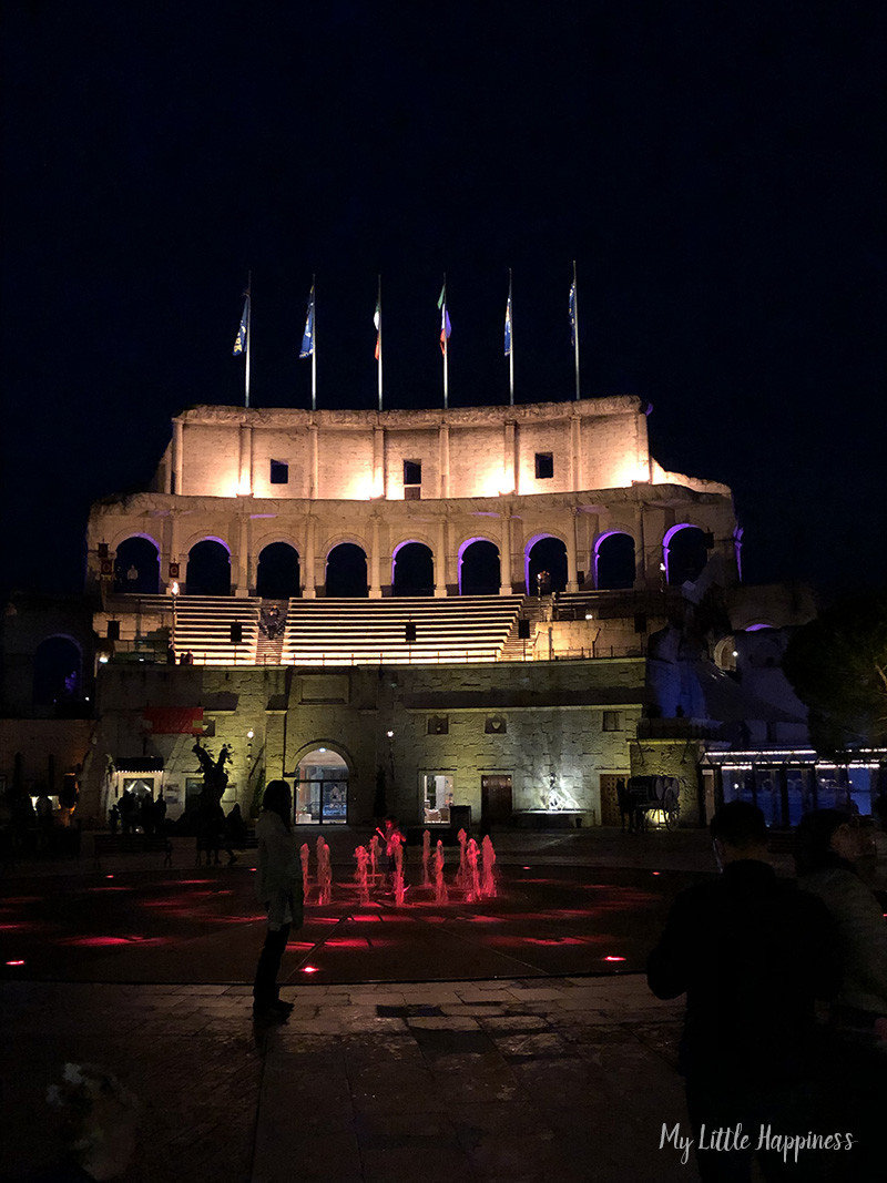 COLOSSEO Europa-Park bij nacht