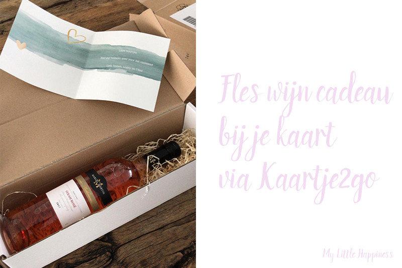 Kaartje2go wijn cadeau bij je kaart