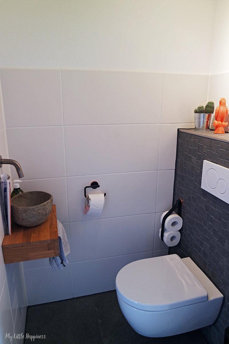 Toilet grijs met wit