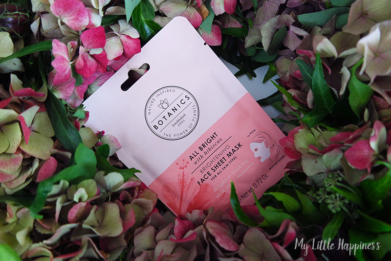 Botanics All Bright Face sheet mask