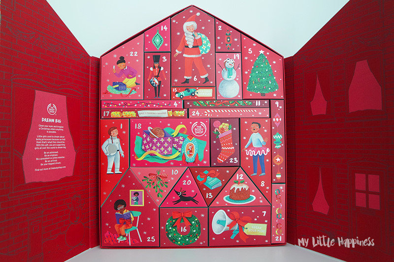 Overzicht adventskalender The Body Shop