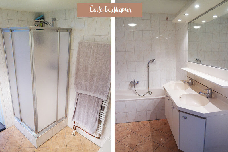 Oude badkamer voor foto
