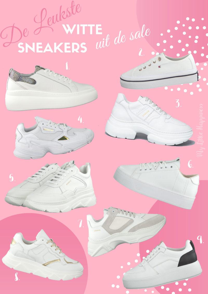 Leukste witte sneakers uit de sale bij Omoda