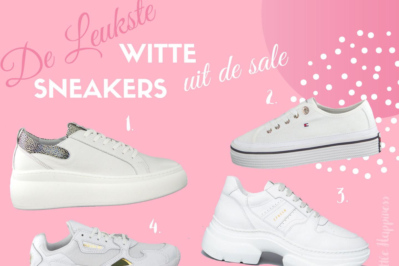 De leukste witte sneakers voor dames uit de sale