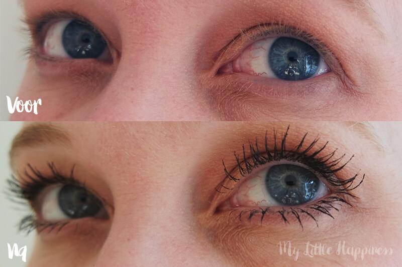 voor en na bambi eye mascara