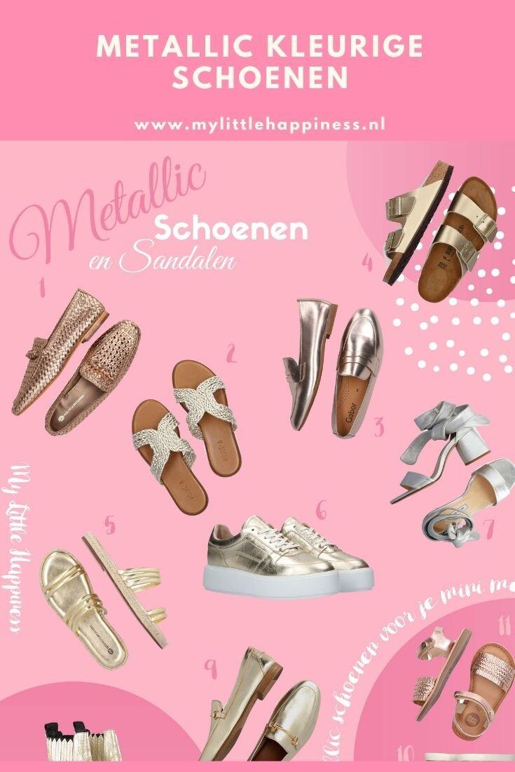 Metallic kleurige schoenen