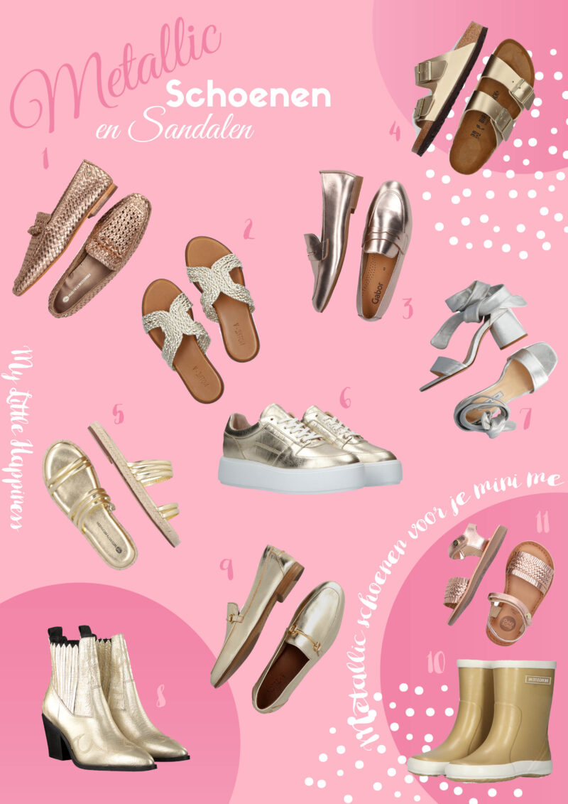 Metallic schoenen en sandalen