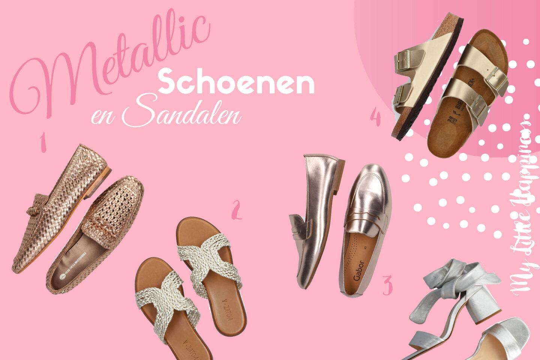 Trend: Metallic schoenen en sandalen